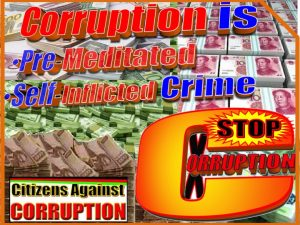 1. Corruption is self inflicted crime Citizens Against Corruption