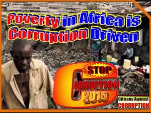 Africa Poverty driven by Corruption