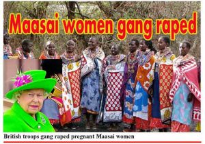 British troops gangrapped pregnant maasai women - 1