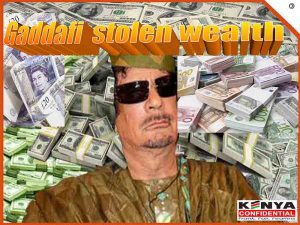 Gaddafi stolen wealth