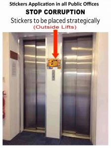 Police Stickers on lifts