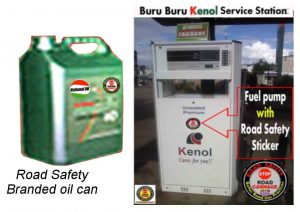 Road Safety branded oil products
