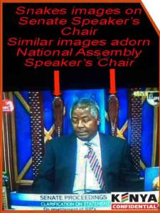 Snakes on Senate Speaker chair