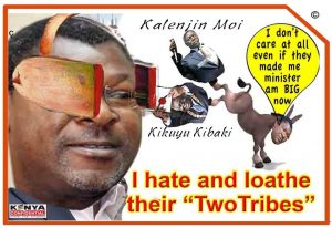 Tribal Wetangula in blinkers