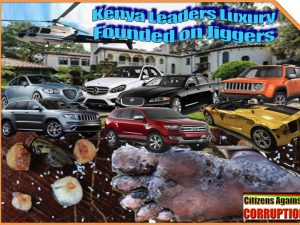 1. Leaders riches founded on jiggers. Kenyan leaders luxury founded on jiggers