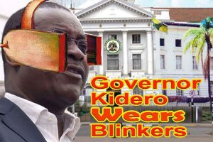 Governor Kidero wears blinkers
